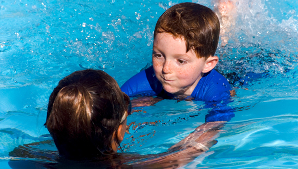 Teaching children to swim
